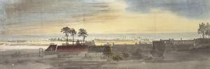 Leith, 1747 (Watercolour and Some Coloured Chalk over Indications in Graphite) by Paul Sandby