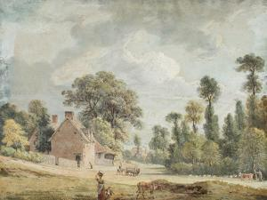 Looking Down Egham Hill by Paul Sandby
