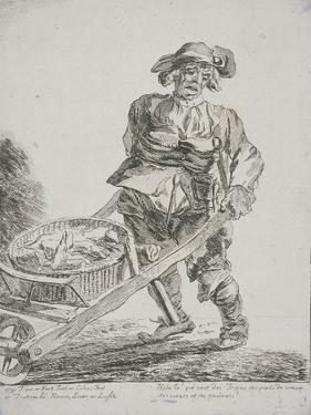 Offal Seller, Cries of London, 1760 by Paul Sandby