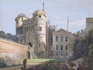 The Norman Gate and Deputy Governor's House (Gouache over Graphite on Paper) by Paul Sandby
