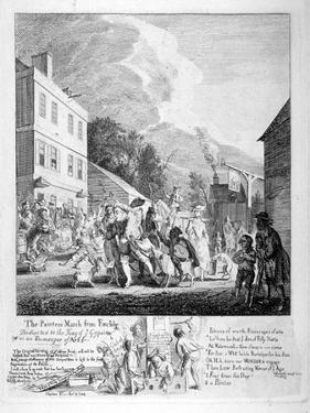 The Painters March from Finchly..., 1753 by Paul Sandby