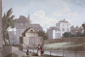 The Thatched House Inn and the New River, Islington, London, C1790 by Paul Sandby