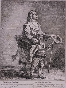 The Walking Stationer, Cries of London, 1760 by Paul Sandby