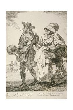 Two Spoon Sellers, Cries of London, 1760 by Paul Sandby