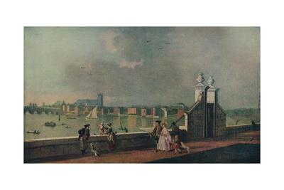 'View from the Terrace of Old Somerset House', c1770