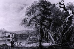 Woodcutters Near a River, 1755 by Paul Sandby