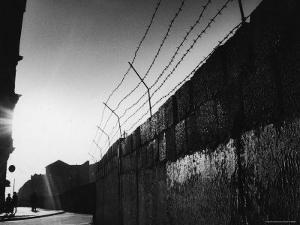 Communist Built Wall Dividing East from West Berlin by Paul Schutzer