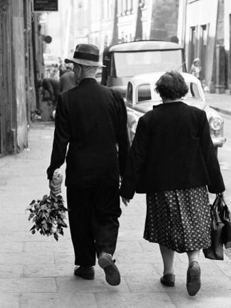 Elderly Polish Couple Walking Hand in Hand