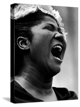 Gospel Singer Mahalia Jackson Singing at 'Prayer Pilgrimage for Freedom' by Paul Schutzer