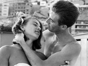 Italian Man Combing His Girlfriend's Hair by Paul Schutzer