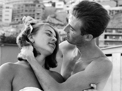 Italian Man Combing His Girlfriend's Hair