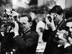 Photographers at Work During the Cannes Film Festival by Paul Schutzer
