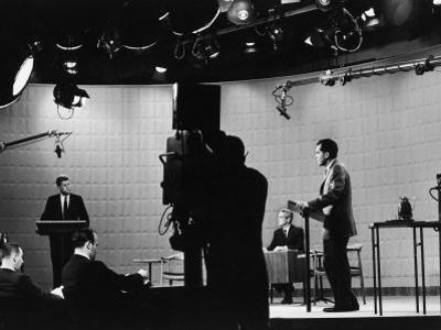 Presidential Candidates Senator John Kennedy and Republican Rep. Richard Nixon Debating