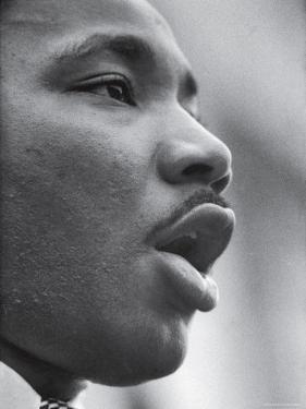 Reverend Martin Luther King Jr. Speaking at Prayer Pilgrimage for Freedom' by Paul Schutzer
