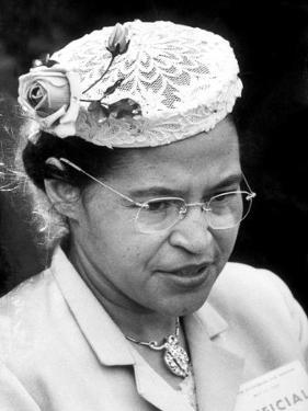 Rosa Parks Woman Who Touched Off Montgomery, Alabama Bus Boycott by African Americans by Paul Schutzer