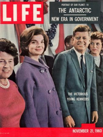 Victorious Young Kennedys, President-elect John Kennedy with Wife and Mother, November 21, 1960