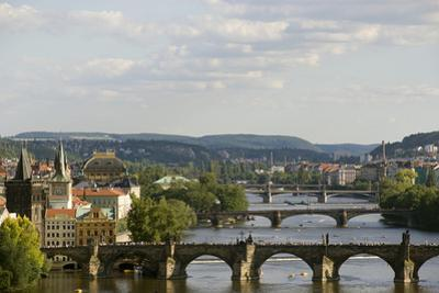 Arched Bridges across the Vltava River by Paul Seheult