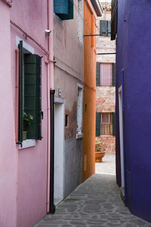 Brightly Colored Houses and Narrow Alley by Paul Seheult