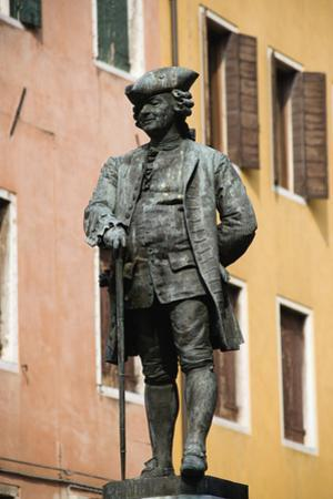 Bronze Statue of Carlo Goldoni in Square by Paul Seheult