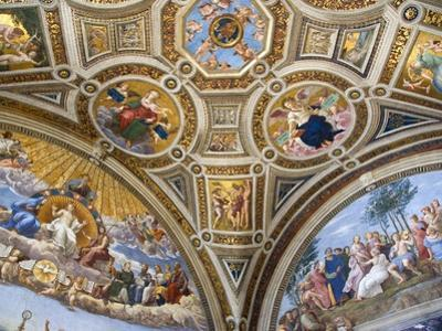 Paintings in Stanza della Segnatura at Vatican Palace by Paul Seheult