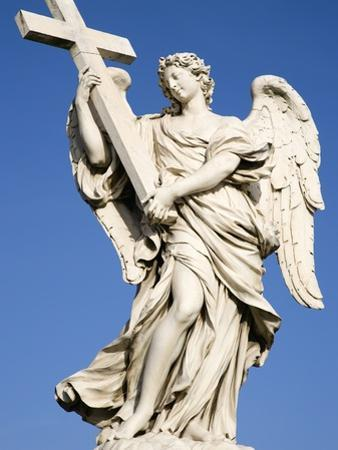 Statue of an Angel on Sant'Angelo Bridge by Paul Seheult