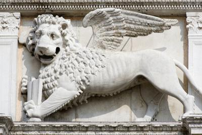 Stone Carving of Winged Lion of St Mark by Paul Seheult