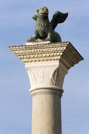 The Winged Lion of Venice atop the Column of San Marco by Paul Seheult