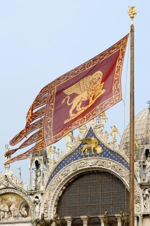 Venetian Flag and St Marks Basilica by Paul Seheult