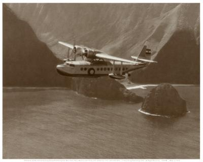 Inter-Island Airways, Sikorsky S-43, North Shore, Molokai, Hawaii, 1937 by Paul Sidney Grade