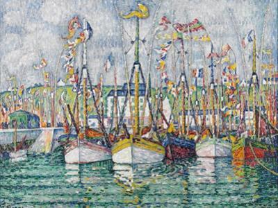 Blessing of the Tuna Fleet at Groix, 1923 by Paul Signac