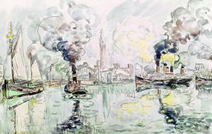 Cherbourg, 1931 by Paul Signac