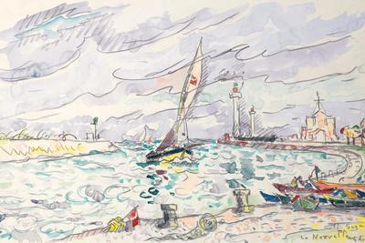 Ciboure, Saint-Jean-De-Luz, 1920 (W/C and Chalk on Paper Laid Down on Board)