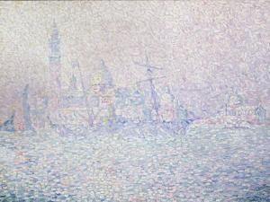 Isola di San Giorgio, Brume Rose, Venise, 1904 by Paul Signac