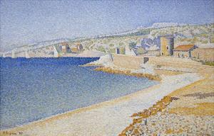 Jetty at Cassis, Opus 198 by Paul Signac
