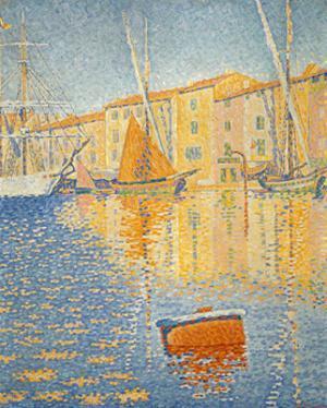 La boue rouge. The red buoy. St. Tropez 1895. Oil on canvas 81 x 65 cm R. F. 1957-12. by Paul Signac