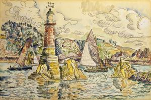La Phare a Lezardrieux, 1927 by Paul Signac