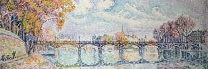 Le pont des Arts by Paul Signac