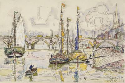 Le port de Bordeaux by Paul Signac