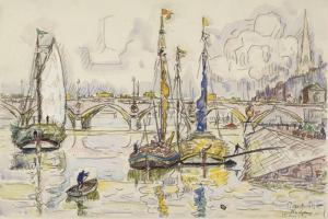 Le port de Bordeaux by Paul Signac