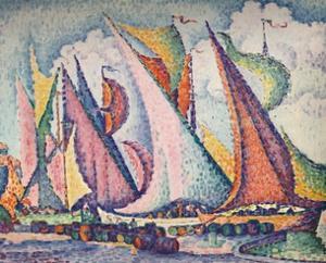 Mediterranean Sailing Boats', 1923 by Paul Signac