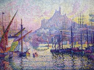Notre-Dame-De-La-Garde (La Bonne-Mère), Marseilles by Paul Signac