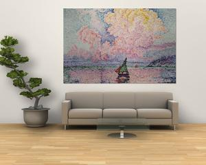Pink Clouds, Antibes by Paul Signac