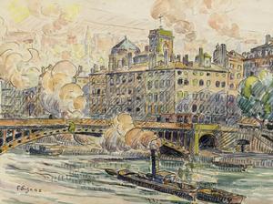 Pont de la Feuillee in Lyon by Paul Signac
