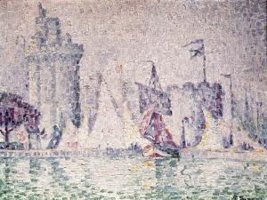Port of La Rochelle, 1921 by Paul Signac