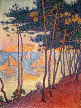 Sails and Pines by Paul Signac
