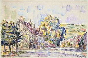 Street with a Frame House in Normandy, C1925 by Paul Signac