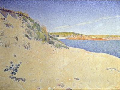 The Beach at Saint-Briac. Op. 212 (Sandy Seashor), 1890 by Paul Signac