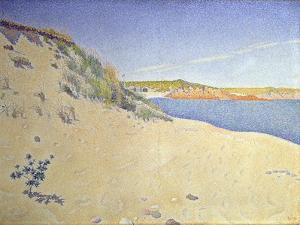 The Beach at Saint-Briac. Op. 212 (Sandy Seashor), 1890 by Paul Signac