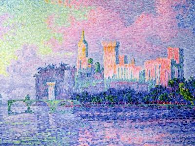 The Chateau des Papes, Avignon, 1900 by Paul Signac
