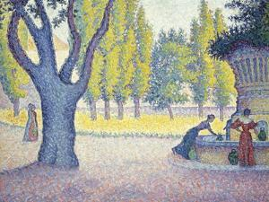The Fountain des Lices in St. Tropez by Paul Signac
